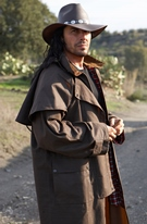 Manteau long TRAIL MARRON