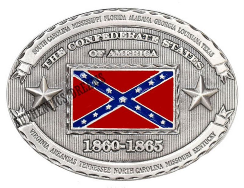Boucle THE CONFEDERATE STATES OF AMERICA 1860-1865. S adapte à toutes les  ceintures présentées sur le site. Dimension   9.5cm x 7cm e4e20430de2