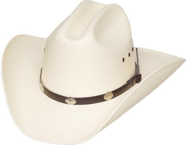 chapeau cowboy paille rigide blanc chapeaux country western. Black Bedroom Furniture Sets. Home Design Ideas