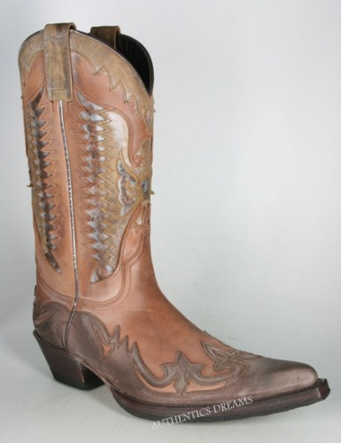 Bottes 3840 VECHIO bi-color marron