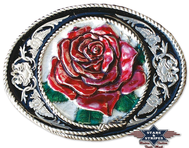 boucle de ceinture Love Buckle avec Hirondelles /& d/'une rose